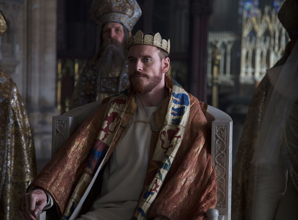 Crown of gory: Michael Fassbender stars in Justin Kurzel's bloody, bold and resolutely bleak adaptation of 'Macbeth'