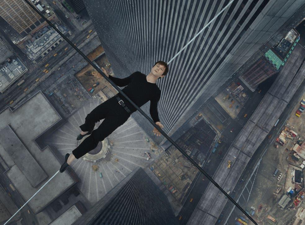 The height stuff: Joseph Gordon-Levitt in Robert Zemeckis's spectacular 'The Walk'