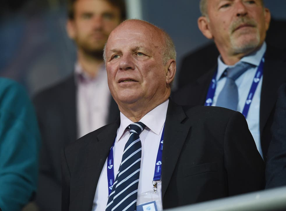 FA chairman Dyke attending an England Under-21 game earlier this year