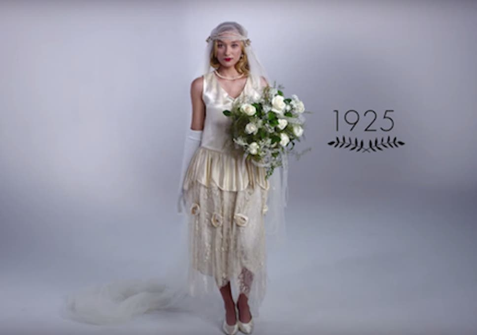 100 Years Of Wedding Dresses In 3 Minutes The Independent