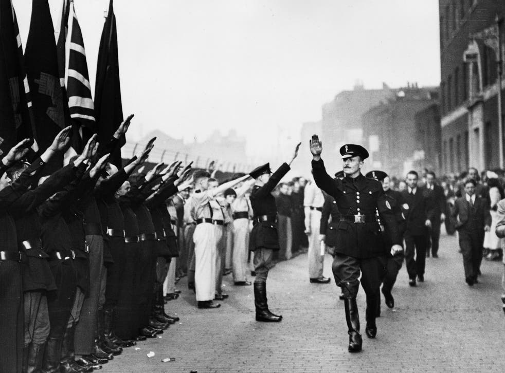 Sir Oswald Mosley, who re-emerged as a fascist leader after the war