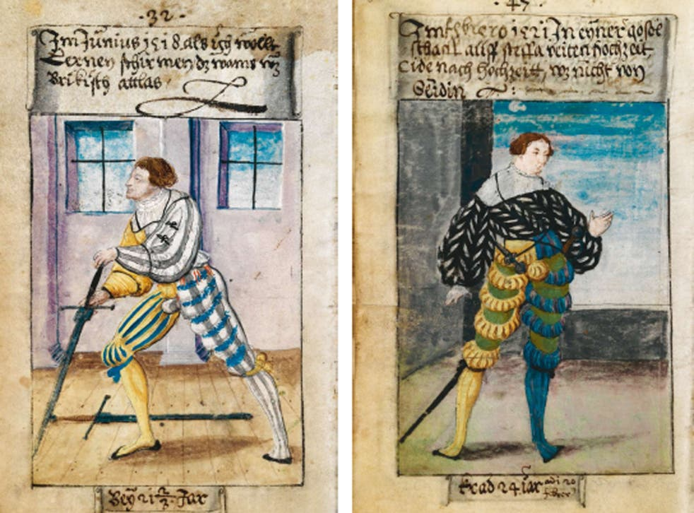 Schwarz commissioned watercolour portraits to showcase his daily ensembles