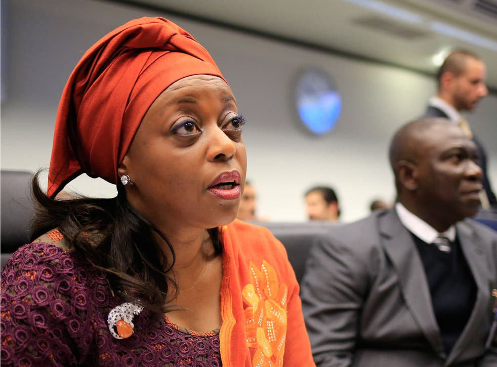 Diezani Alison-Madeuke is reportedly one of five people arrested by the UK National Crime Agency