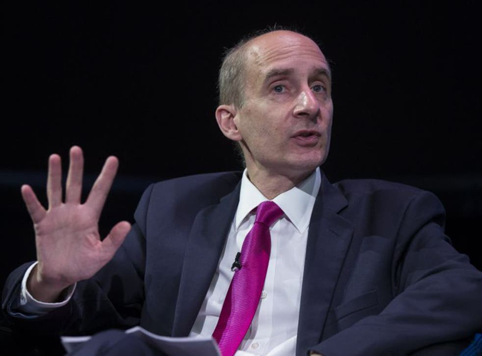 Lord Adonis delivers a speech at the 'Policy Network Conference' held in the Science Museum