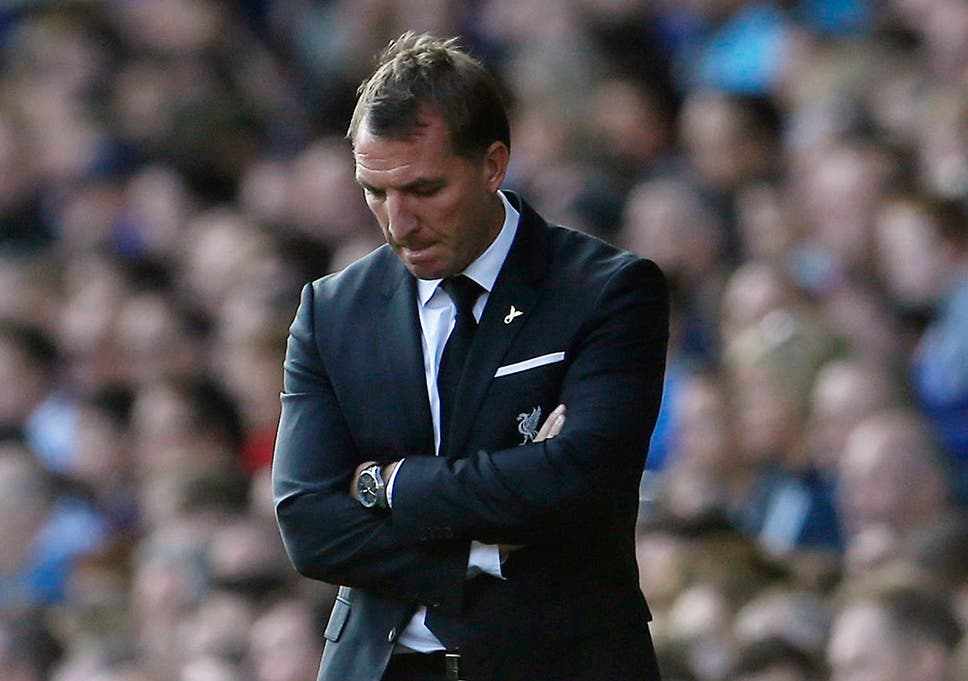 Brendan rodgers sacked rodgers pays price for failure to build on liverpool manager brendan rodgers looks dejected as liverpool can only draw with everton fandeluxe Image collections
