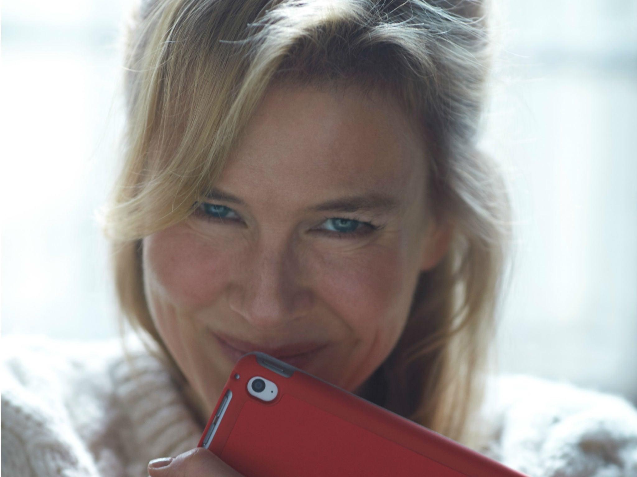 Bridget Jones 3 Renee Zellweger Swaps Diary For Ipad In