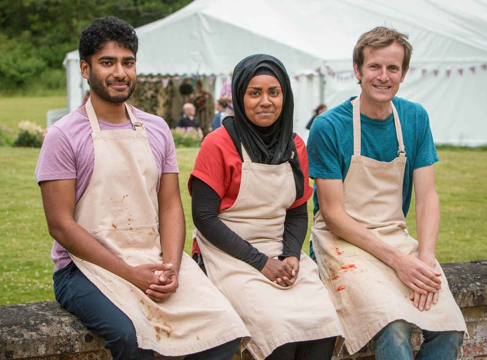 Nadiya Jamir Hussain (centre) has earned the Prime Minister's backing in the Bake Off final
