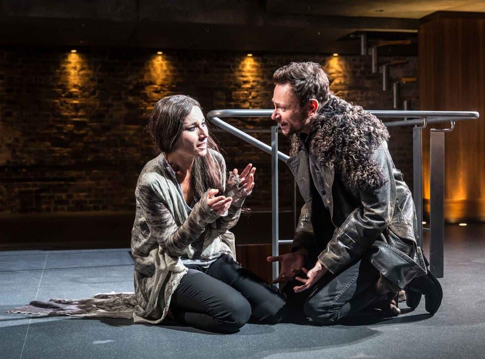 Kate Fleetwood and Justin Salinger in 'Medea'
