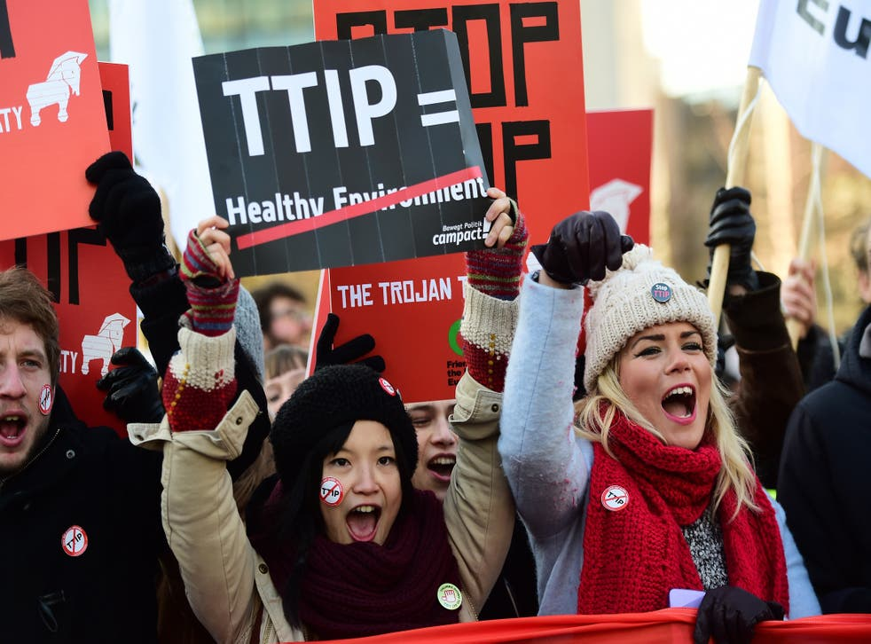 TTIP protestors