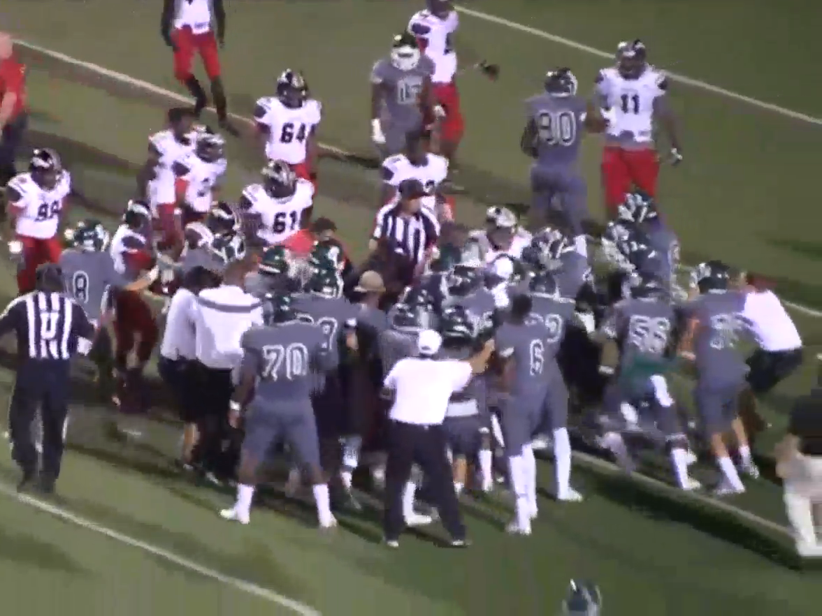 Mass Brawl Breaks Out At Us High School American Football Game The