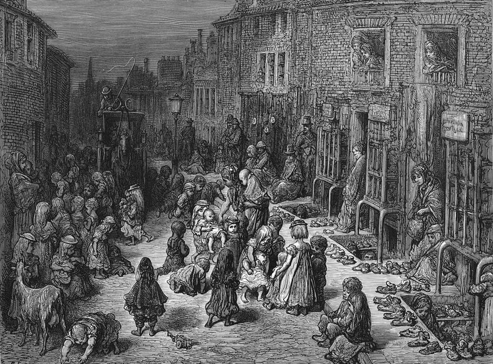 The London of the 1870s, as seen in this engraving by Gustave Doré, was where Hill did her greatest work