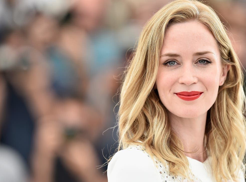 Emily Blunt attends a photocall for 'Sicario' during the 68th annual Cannes Film Festival