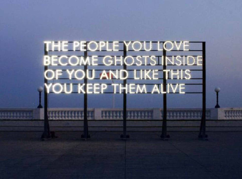 Installation poetry makes Robert Montgomery a canny choice for National Poetry Day