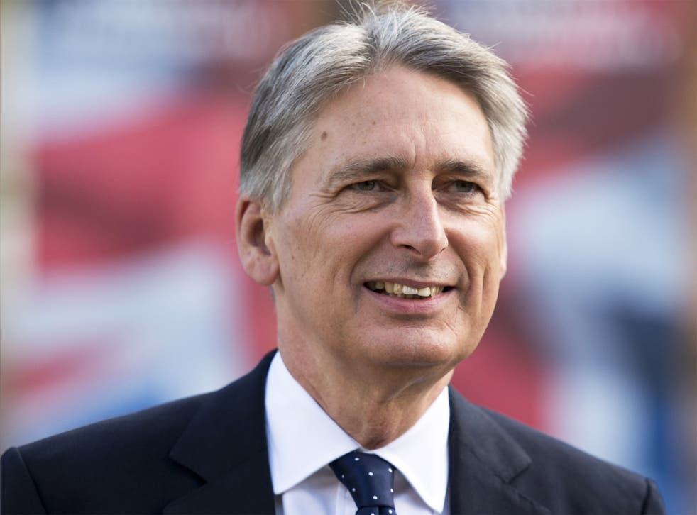 Foreign Secretary Philip Hammond at the Conservative Party conference in Manchester on Tuesday