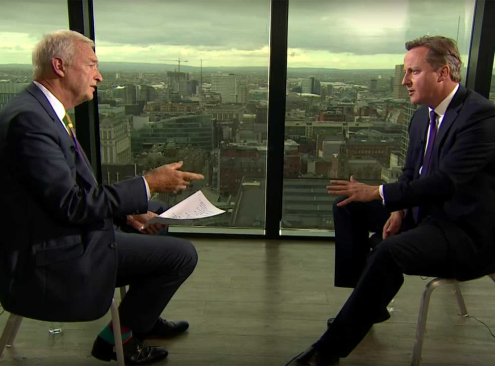 Cameron repeatedly failed to answer the question during the interview