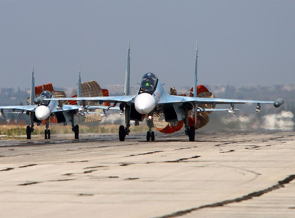 Russian jets have been accused of providing cover for President Assad's forces