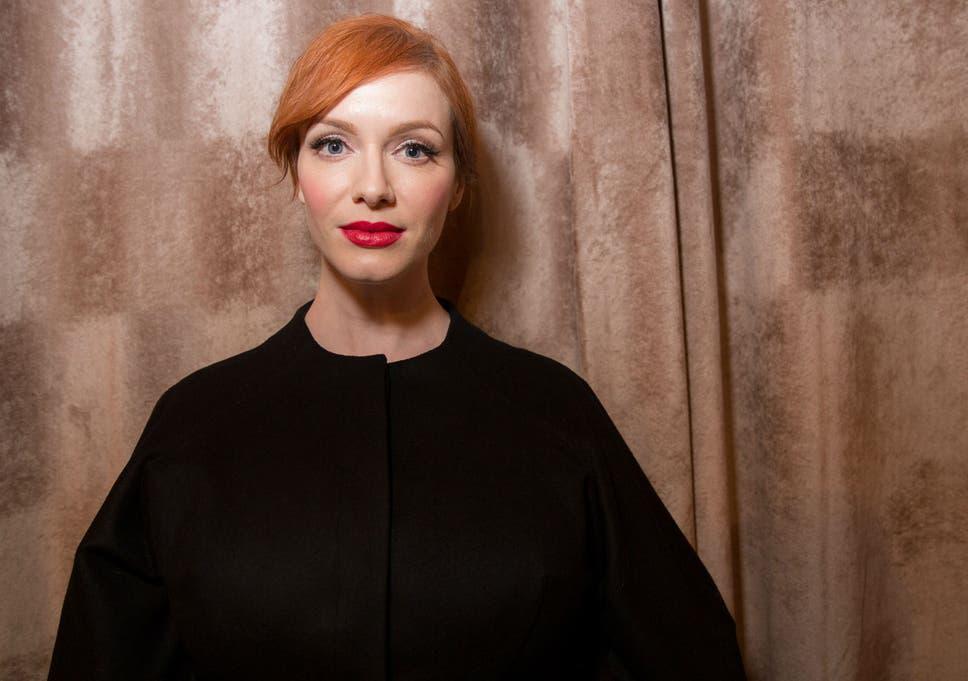 Christina Hendricks Hair Dye Advert Showing Actress Transforming
