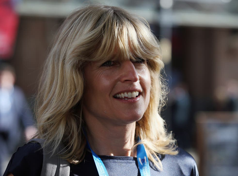 Rachel Johnson, the sister of London mayor Boris Johnson arrives on the third day of the Conservative party conference