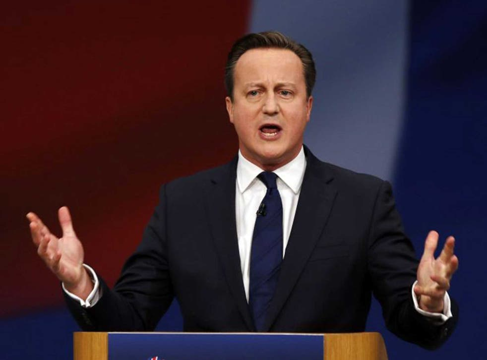 Cameron used part of his speech to launch a blistering attack on the Labour leader