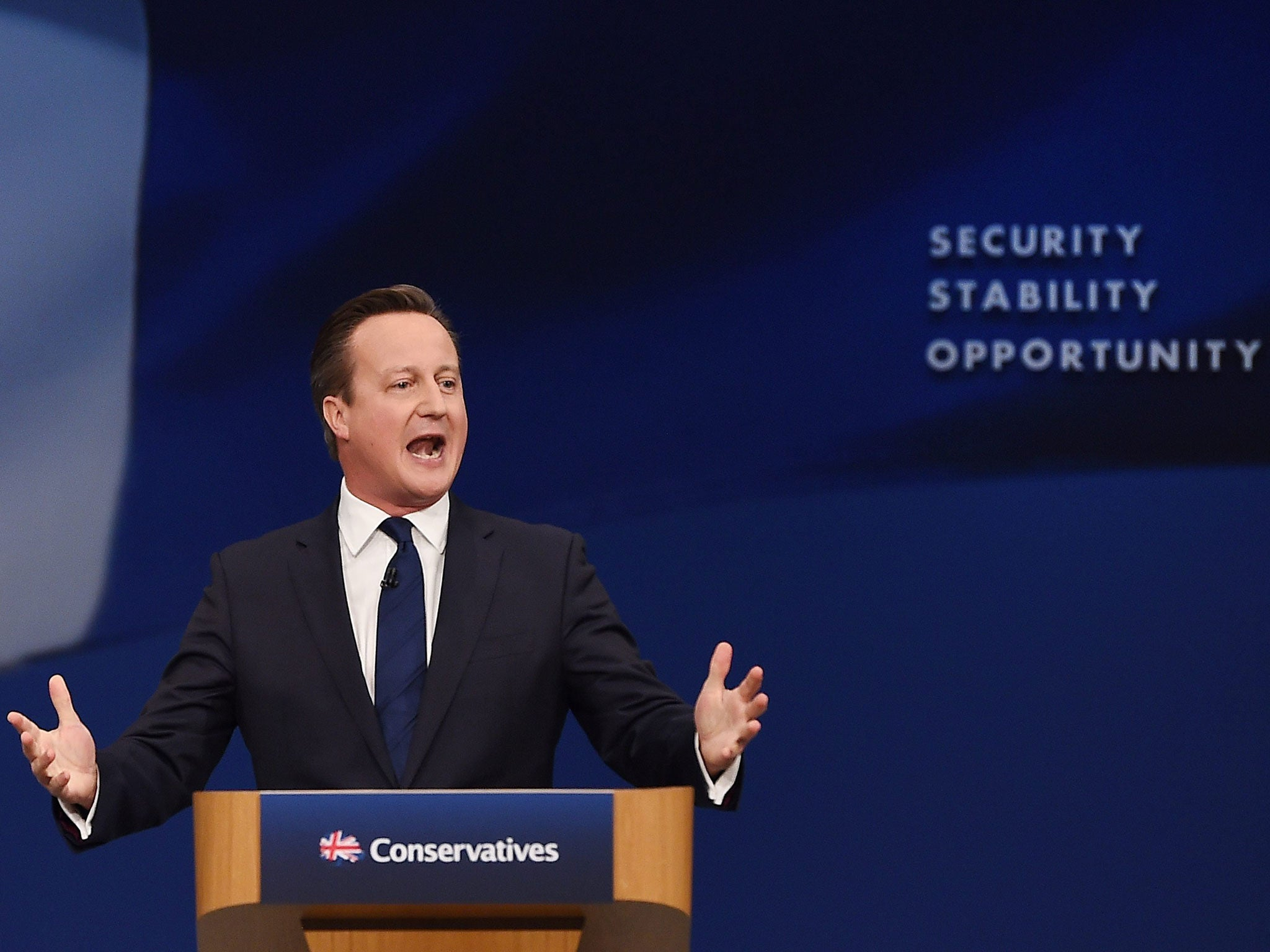 What David Cameron said about poverty in his Tory conference speech