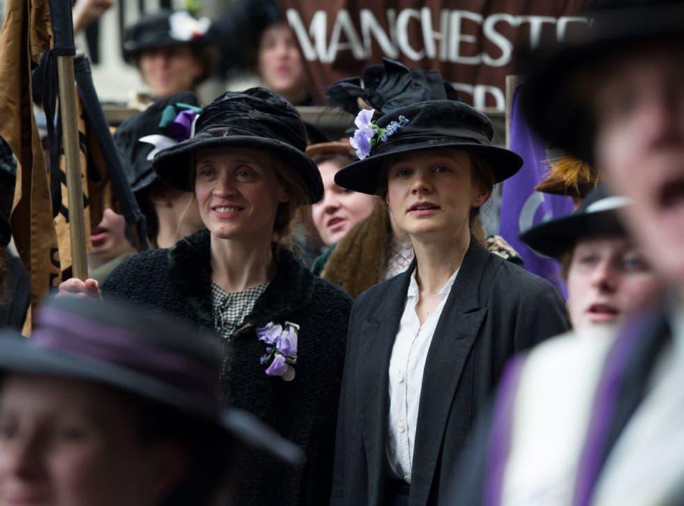 Anne-Marie Duff and Carey Mulligan in 'Suffragette'