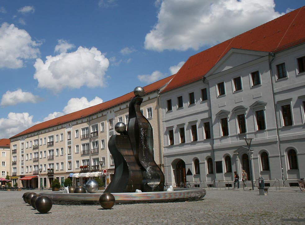 File image of the marketplace in Dessau