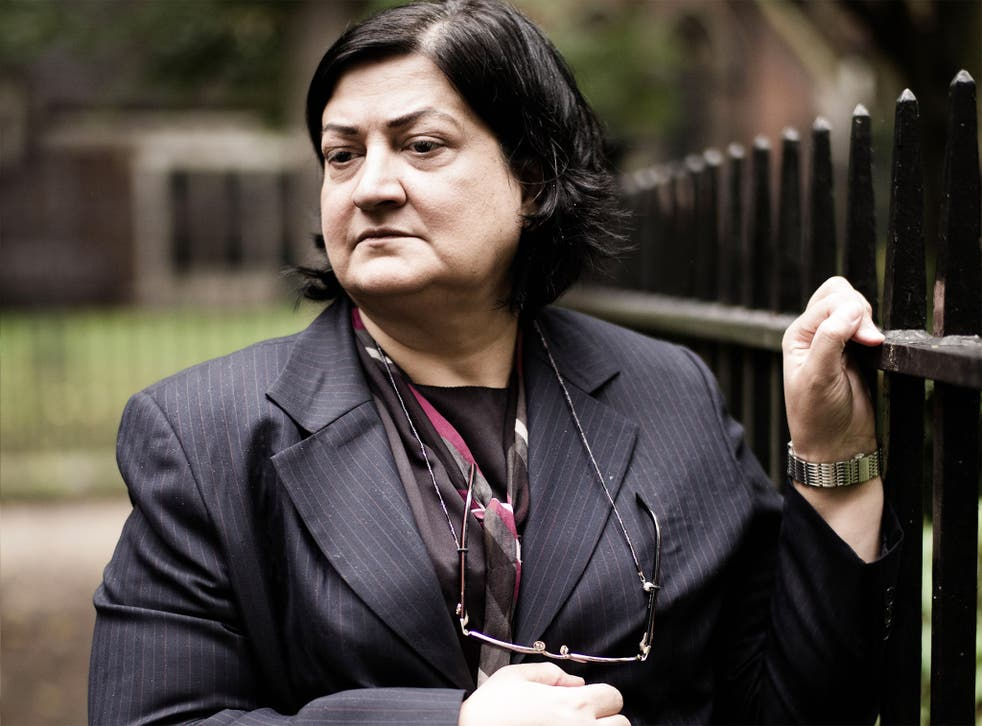 Farida Ghulam, whose husband Ebrahim Sharif faces trial on Monday for 'incitement to hatred'