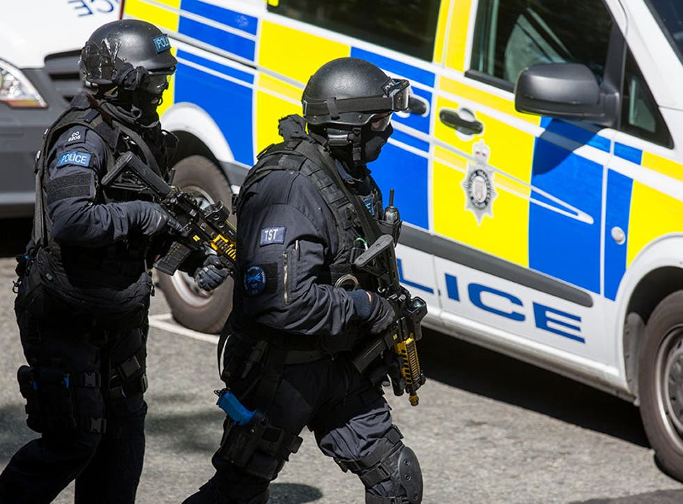Members of the emergency services took part in counter-terrorism training exercises in London in June 2015