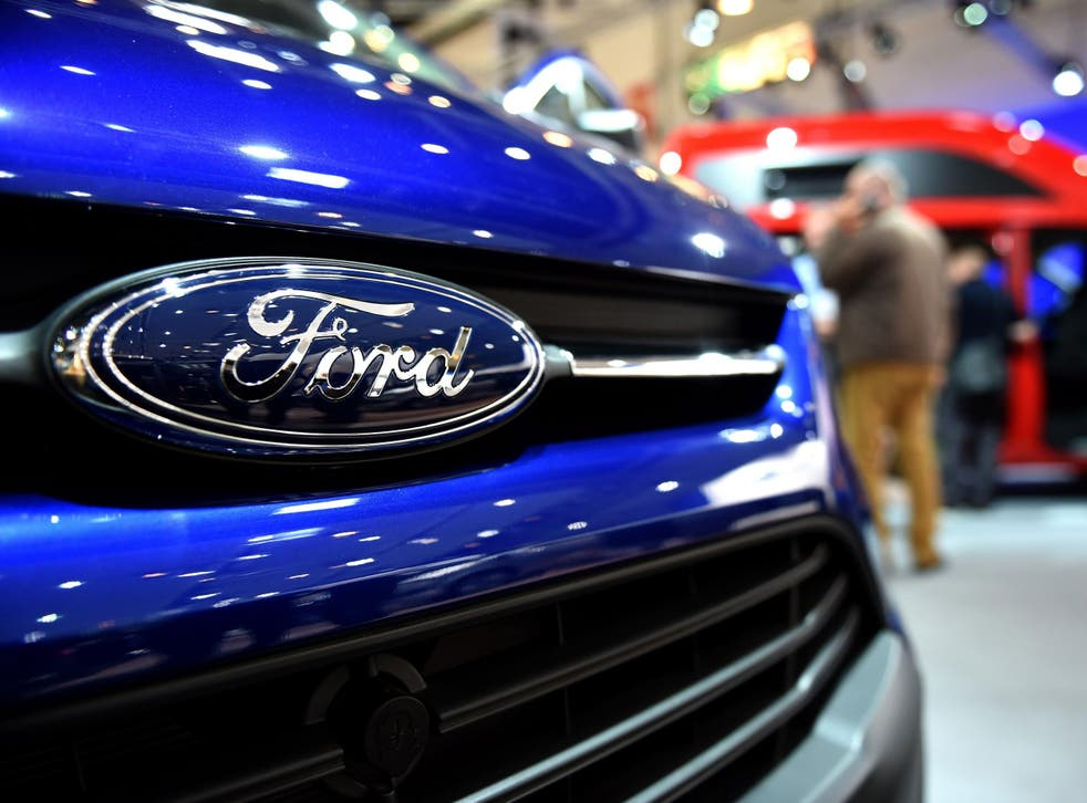 A Caravan of US car maker Ford is on display at the expo 'Caravan Salon Duesseldorf' at the fair grounds in Duesseldorf, western Germany, on September 3, 2015