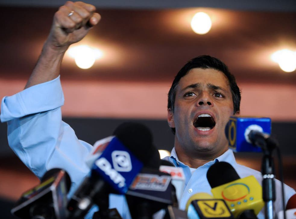 Leopoldo Lopez was jailed for 14 years in a trial denounced as politically motivated