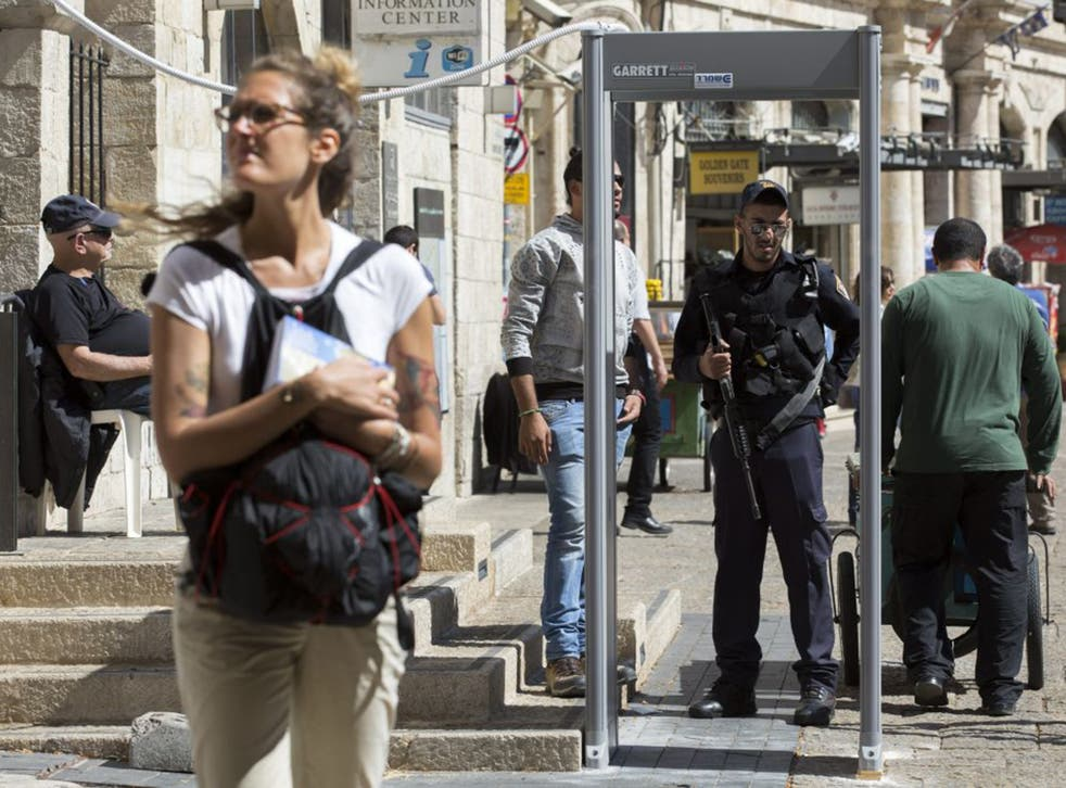Metal detectors were in use in Jerusalem's Old City on Thursday