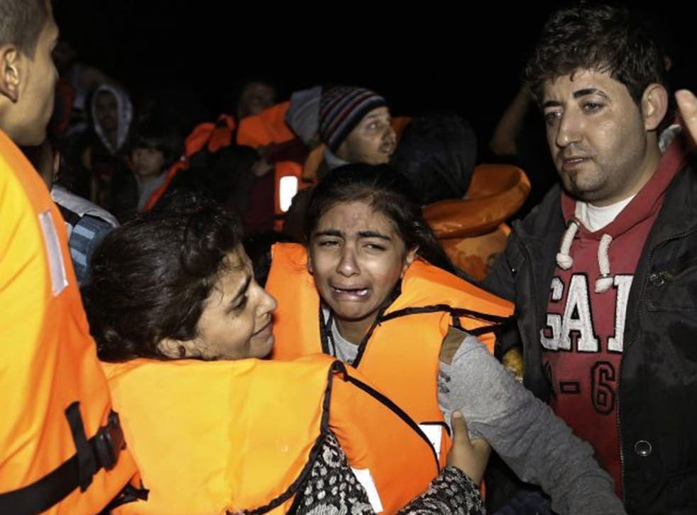 The baby boy was on an overloaded dinghy taking refugees from Turkey to Greek islands
