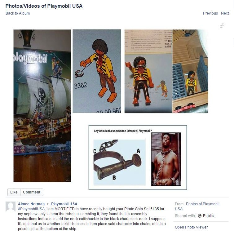 Playmobil Racist Pirate Toy Supposed To Be A Former Slave The