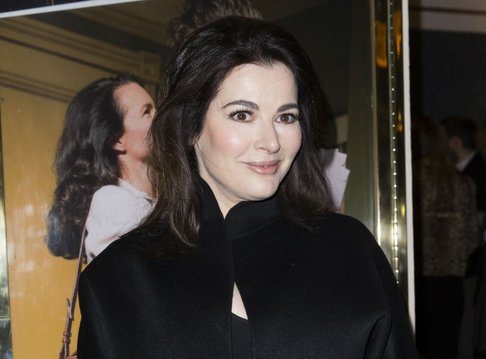 Nigella Lawson played down rumours she recently dropped two dress sizes
