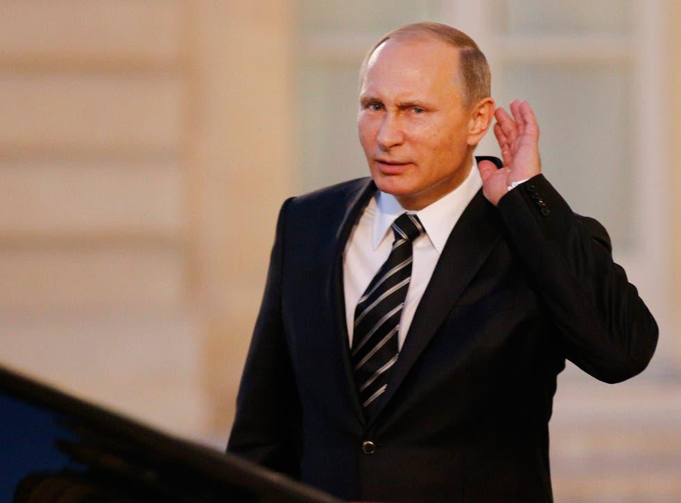 Mr Putin has spoken of the terrorist threat to Russia