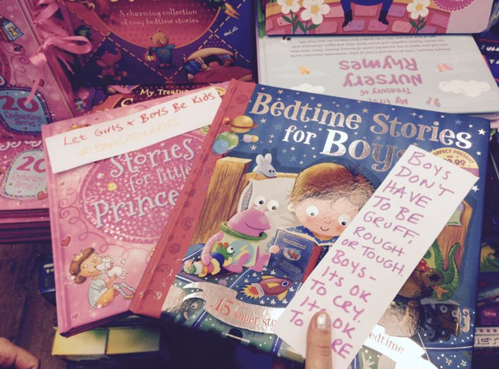 The Chelt Fems group has left 'gender busting' messages in children's books
