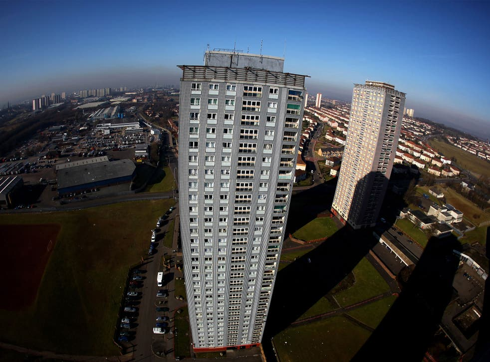 Glasgow's Red Road tower block