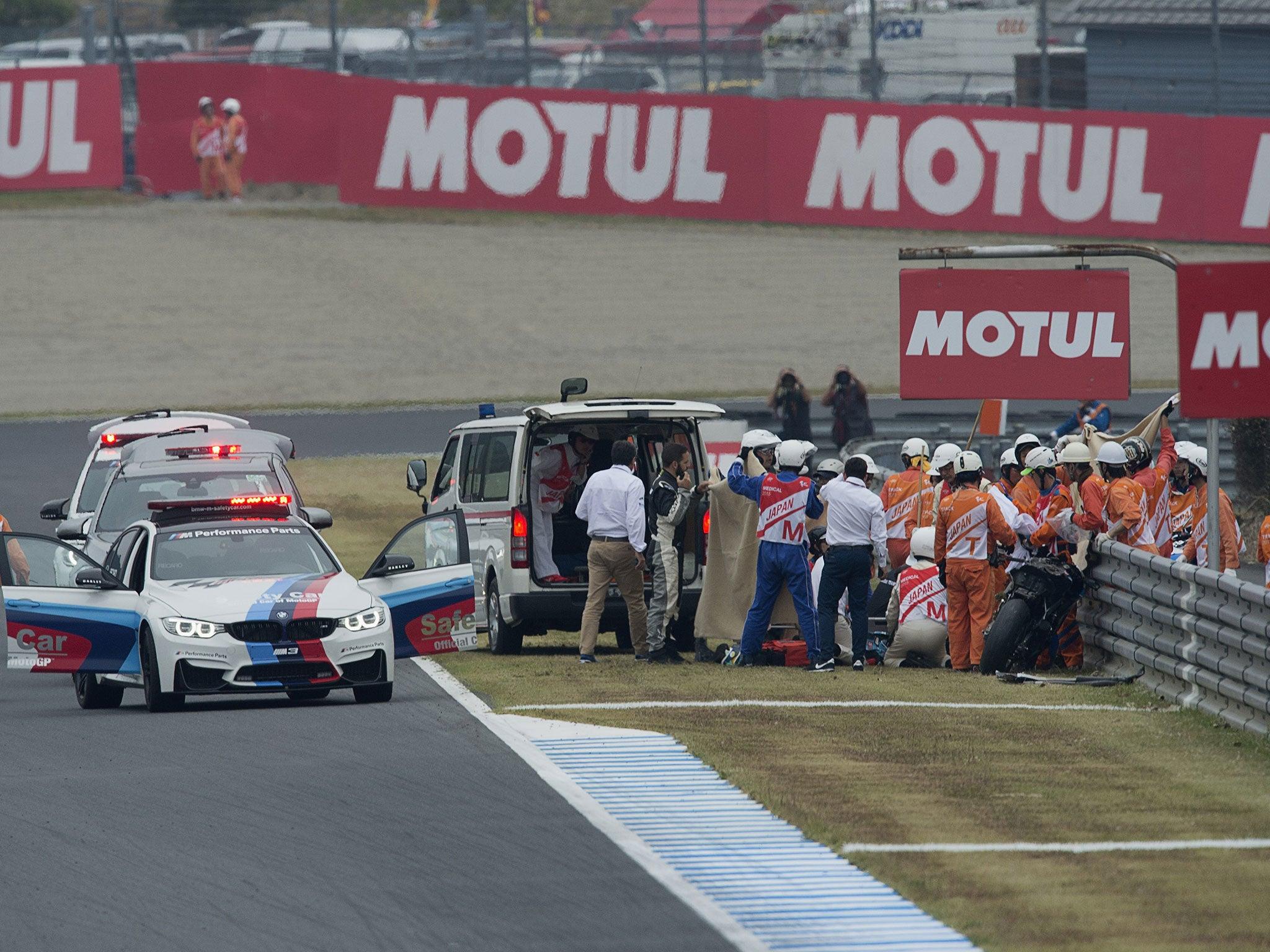 Alex de Angelis injury latest: MotoGP rider 'able to talk