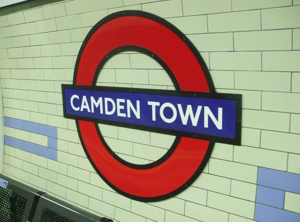 Camden Town station in north London