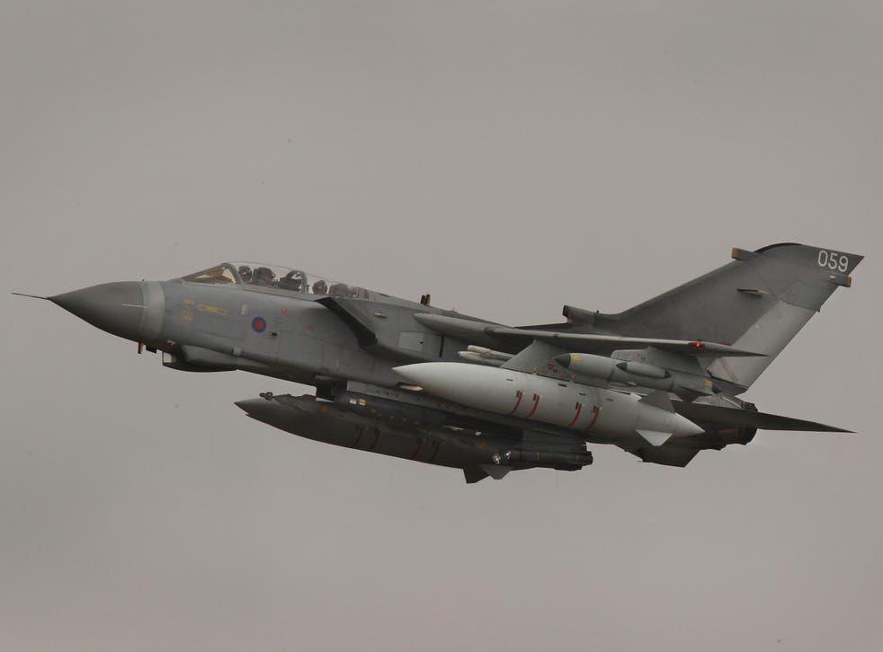 An RAF Tornado GR4 aircraft