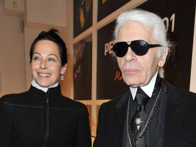 Amanda Harlech, the right-hand woman of Karl Lagerfeld, in 2012