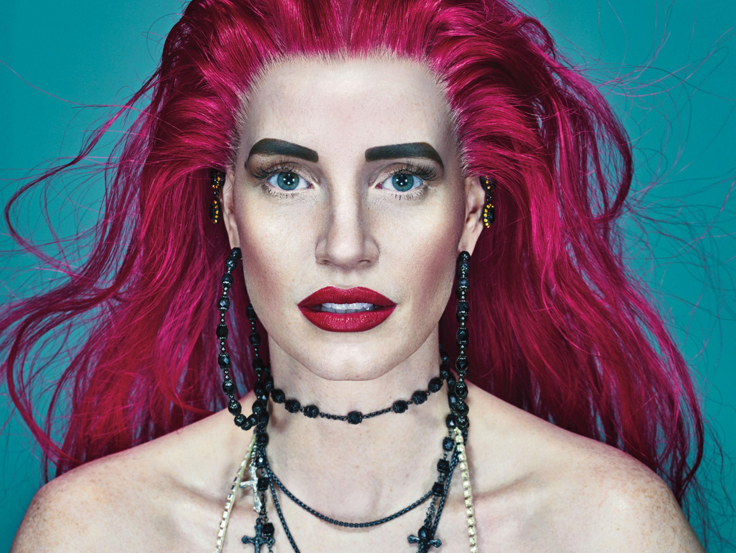 jessica chastain is unrecognisable in w magazine cover shoot the independent