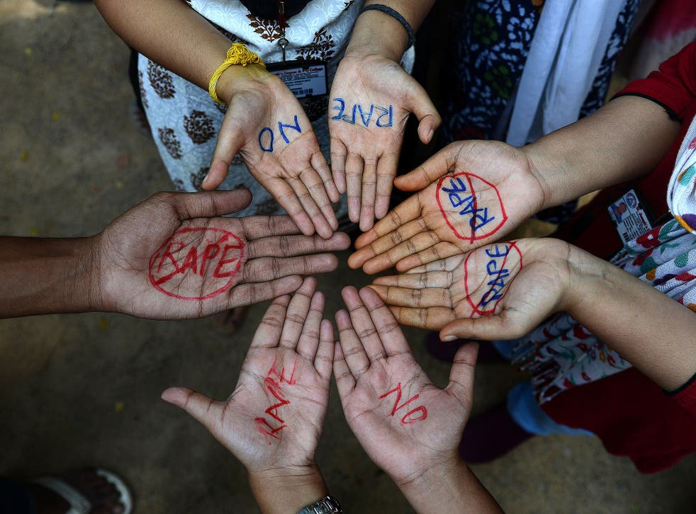 Indian students take part in an anti-rape protest