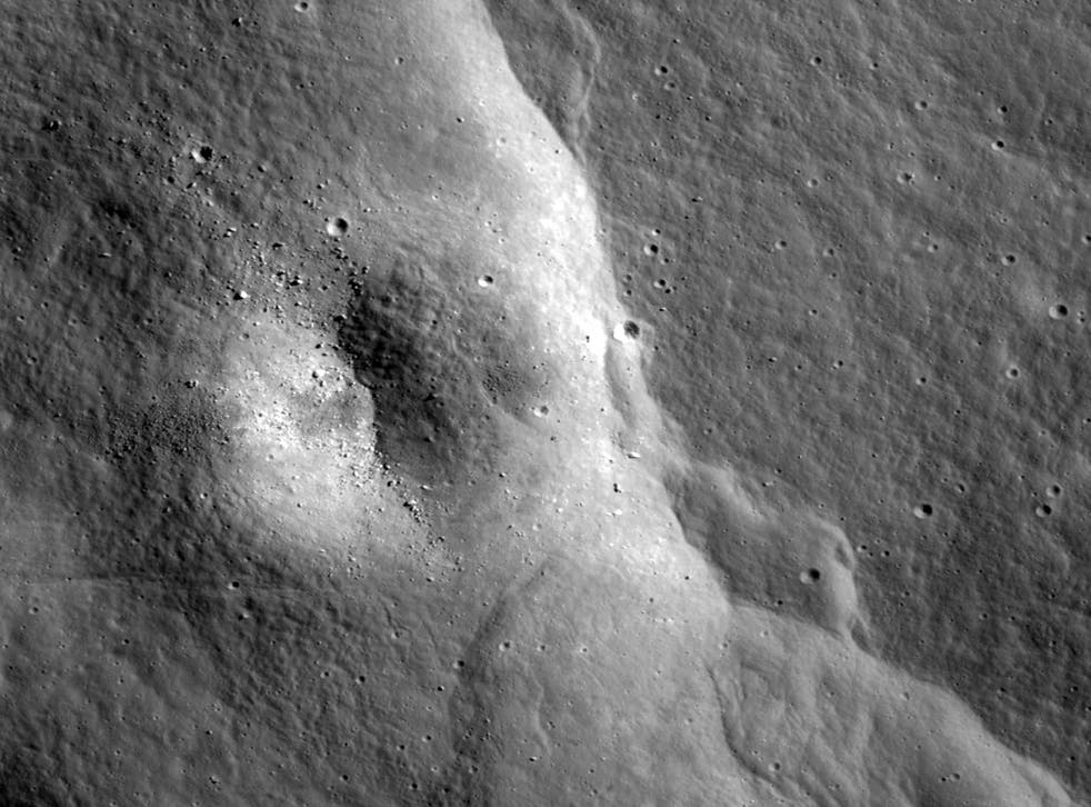 One of thousands of cliffs discovered in Lunar Reconnaissance Orbiter Camera images
