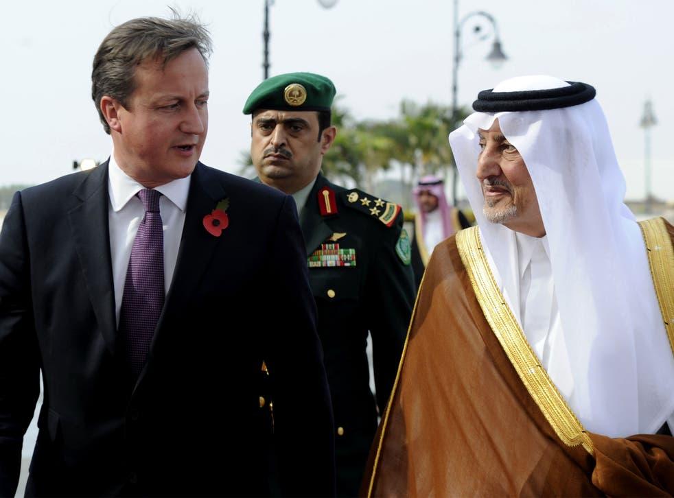 Prince Charles with Prince Khalid bin Faisal bin Abdulaziz in 2012