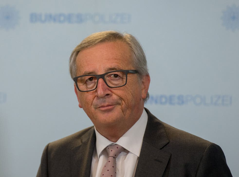 Mr Juncker said: 'Those who organised these attacks and those that perpetrated them are exactly those that the refugees are fleeing and not the opposite'