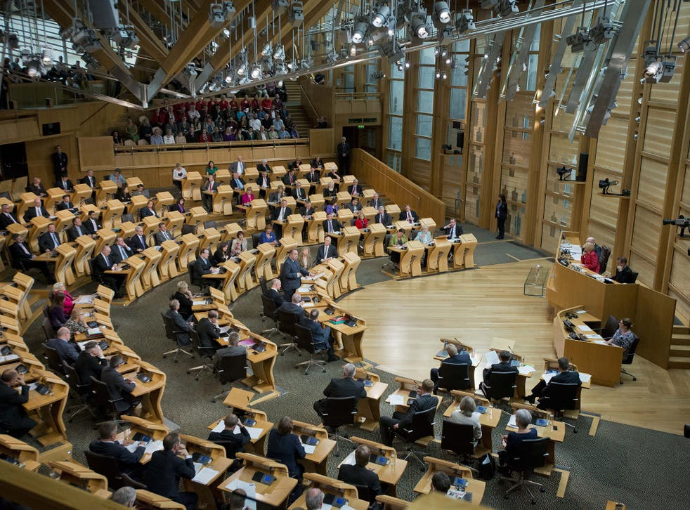 The Holyrood Parliament building