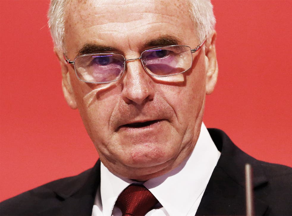 Shadow Chancellor John McDonnell: 'a bit of humility amongst politicians never goes amiss'