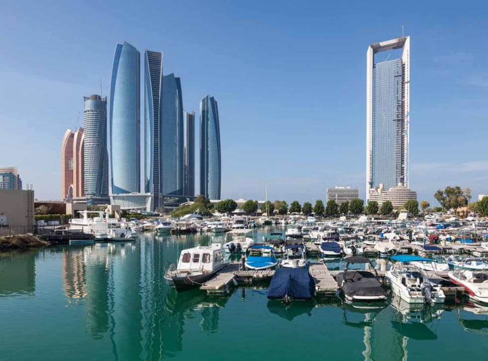 Etihad Towers and the marina