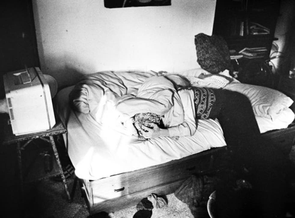 Duvet day: 'Aaron's Room (Notting Hill), 1980' is one of the revealing pictures by former squatter Mark Cawson now showing at ICA